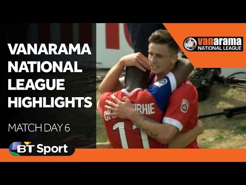 Vanarama National League Highlights Show - Matchday 6