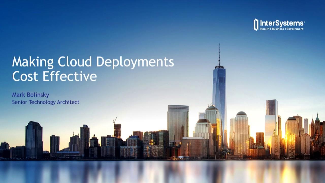 Deployment | InterSystems Developer Community