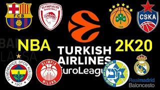 How to play with Euroleague teams in NBA 2K20!/ Πώς να παίξετε με ομάδες της Ευρωλίγκας στο NBA 2K20