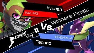 SmashG Sling II - Kyeean (Inkling, Snake) vs. Techno (Greninja, Donkey Kong) [Winners Finals]