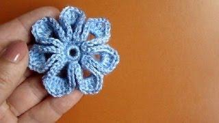 Как связать цветок крючком Урок 36 How to crochet flower(, 2013-07-12T07:25:59.000Z)