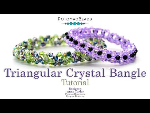 Triangular Crystal Bangle (Tutorial)