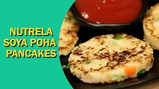 Soya Poha Pancakes   How To Make Healthy Pancakes   सोया पोहा पैनकेक   Kids Recipe   Food Tak