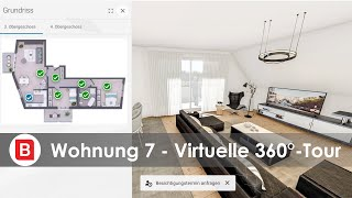 The New Yorker Wiesbaden I Wohnung Nr. 7 I Penthouse-Feeling I Virtuelle 360°-Tour