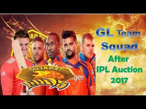Gujarat Lions (GL)|Vivo 2017  IPL ||Gl team Final Squad|| Retained Expensive  Players ipl Auction