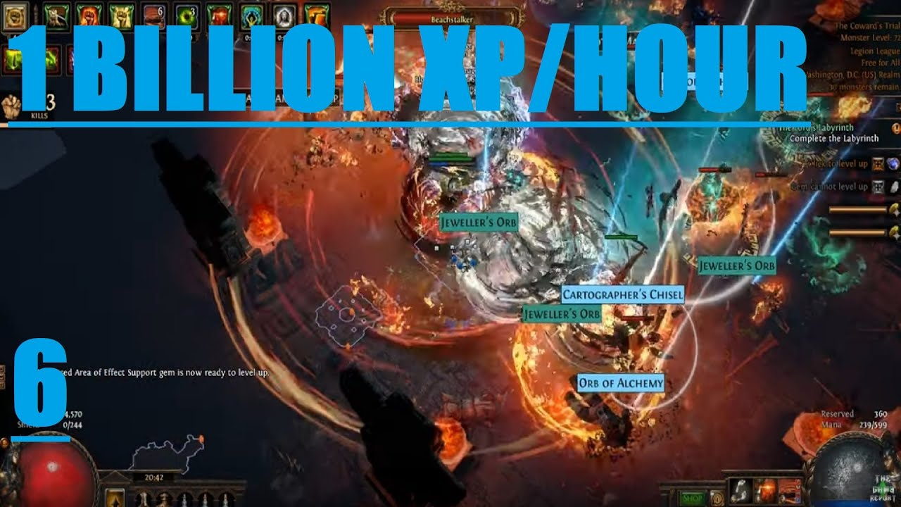 [PATH OF EXILE] – 3 7 LEGION – HOW TO GAIN OVER 1 BILLION XP AN HOUR SOLO
