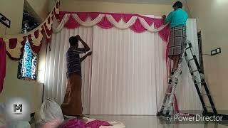 Wedding stage decoration making tutorial.