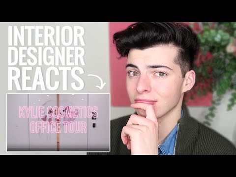 INTERIOR DESIGNER REACTS TO KYLIE JENNER 'S OFFICE TOUR!