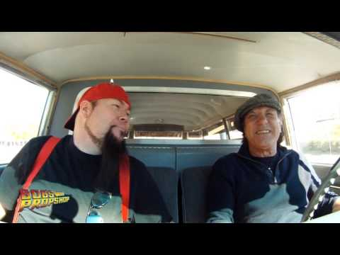 CARPOOL KARAOKE with Brian Johnson and Videobob  Ghostbusters ECTO1 Shook Me All Night Long!