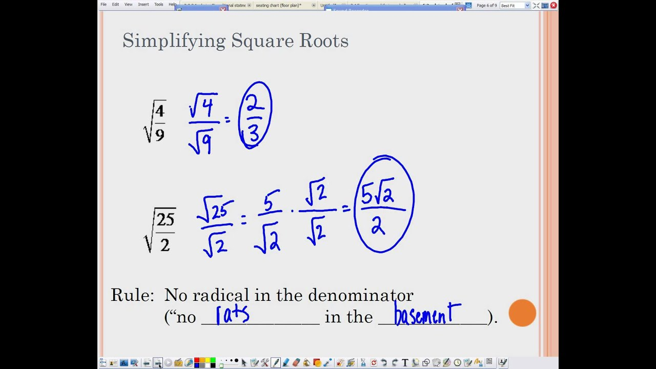4 3 Solving Quadratic Equations By Finding Square Roots