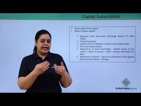 Stage III – Company Capital Subscription