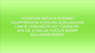 VODAFONE Bedava İnternet - Yeni!!! 2017 - AVEA TURKCELL TURKTELEKOM