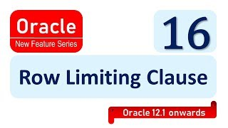 Oracle New feature 12c row limiting clause