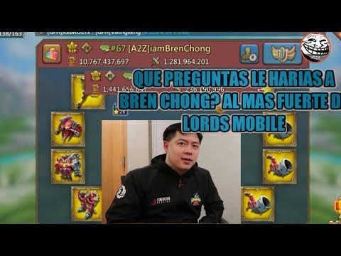 ¿Que Preguntas Le Harias A Bren Chong?-RG Capt Rave va Hacerlo - Lords Mobile
