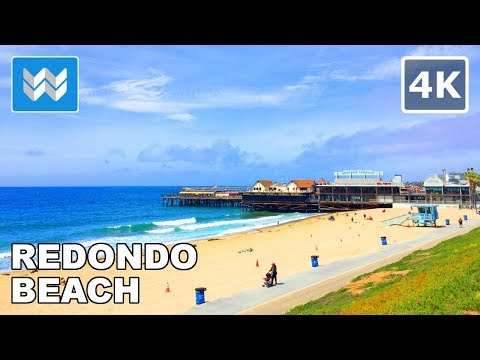 Walking tour of Redondo Beach Pier in South Bay, Los Angeles, California 【4K】