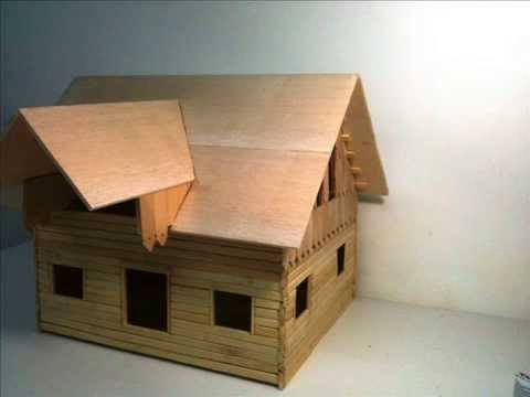 Fabrication d 39 une maquette manufacture of a model youtube for Comment construire maison en bois