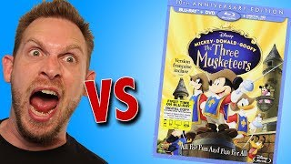 Disney The Three Musketeers Blu Ray Unboxing