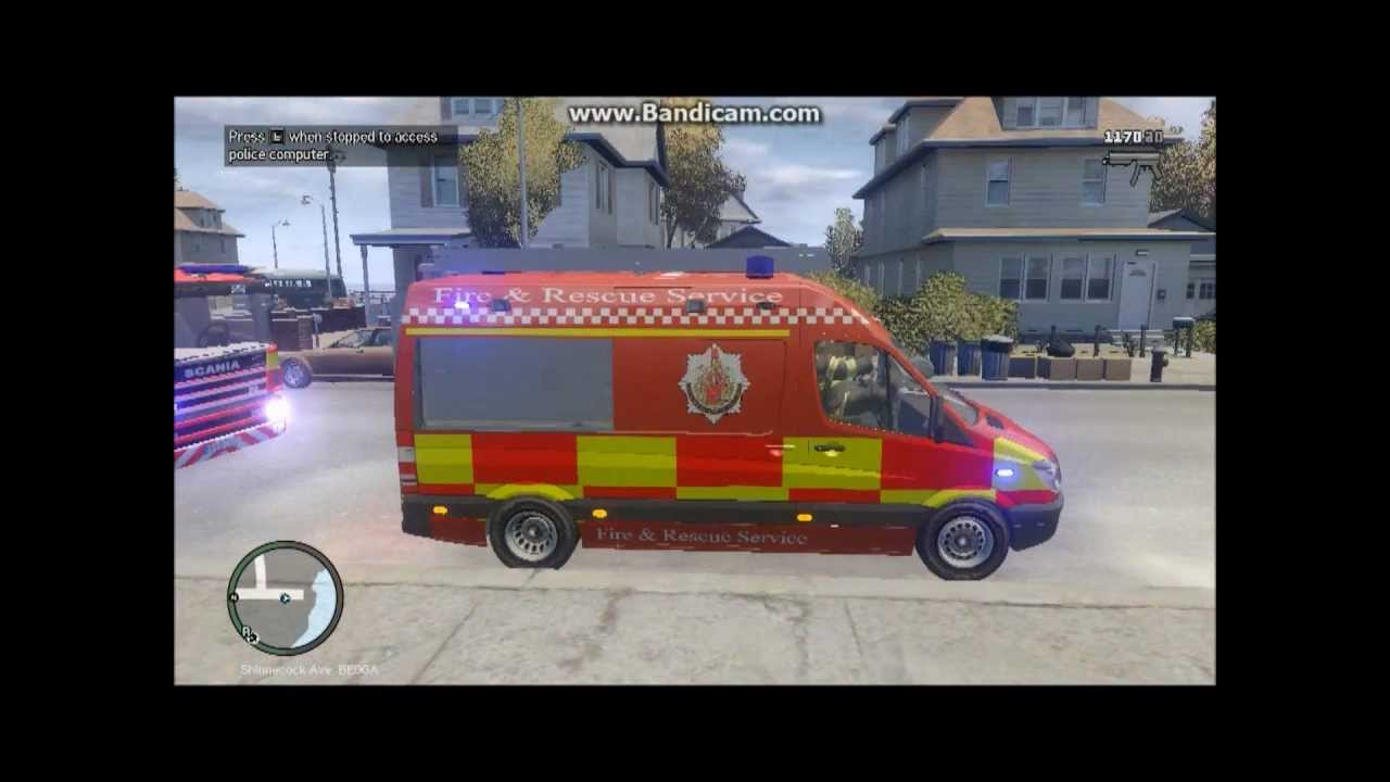 Gta 4 British Mods Mercedes Sprinter And Scania Fire Truck