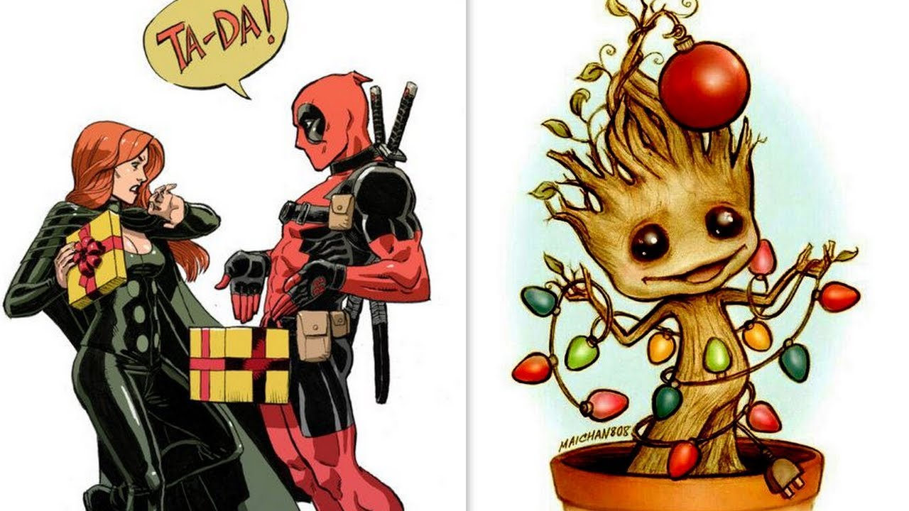 Deadpool 30 Superhéroes: 30+ Funny Christmas Comics With Superheroes & Others. 2017