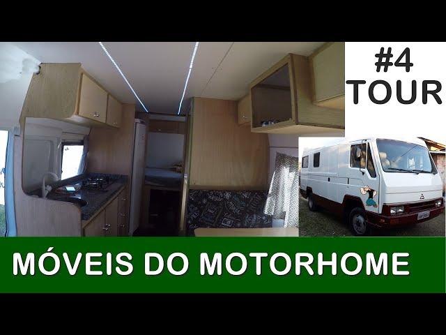 TOUR PELOS MÓVEIS DO MOTORHOME. CONSTRUINDO MOTOR HOME EM CASA [DIY]