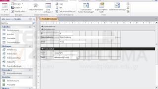 Fügen Sie im Formularfuß des Formulars Produktformular zwei Textfelder ein, auf denen der...