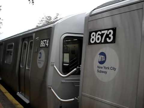 Coney Island Bound R160A-2 8673 - 8682 Q Train @ Ave J ...