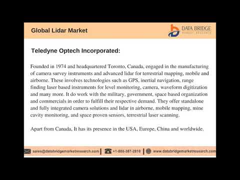 Global LIDAR Market – Industry Trends and Forecast to 2024