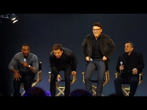 Captain America: The Winter Solider Cast Interview with Anthony Mackie, Joe Russo, Sebasti