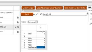 General Ledger | Add Formulas to a Financial Reporting Report (2 of 6) video thumbnail
