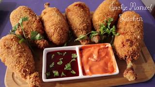 Yummy Crispy Fried Chicken with potato and cheese recipe | Tasty deep fried chicken with potato|Easy