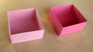 Schachtel mit Deckel basteln mit Papier - Origami Box falten - Basteln Ideen