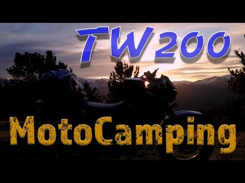 TW200 MotoCamping Adventure - exploring the Rocky Mountains