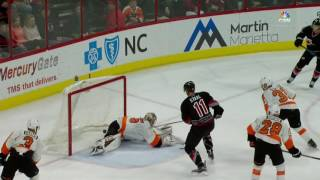 Aho batters Flyers for first career hat trick
