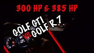 280 км/ч. Golf R 7 (385 HP) vs Golf GTI (300 HP)