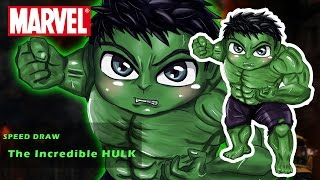 Speed Drawing Hulk Chibi™ [The Incredible Hulk•Marvel]