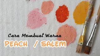 Membuat Warna Salem / Peach - cara mencampur dan oplos cat warna basis air
