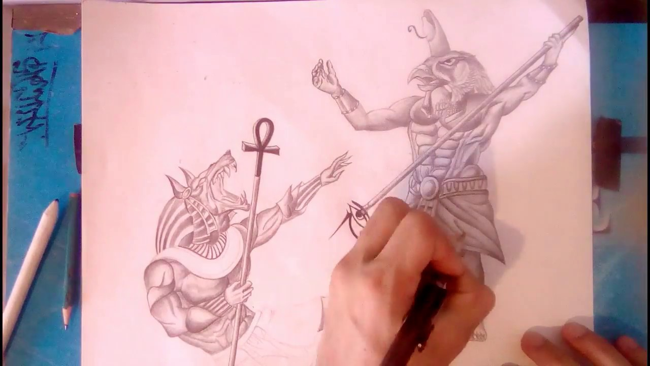 Cómo Dibujar Dioses Egipcios A Lápiz Volcusart 1stcrew