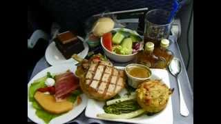 United Airlines 787 -8 Food Service Lunch Free In Coach Boeing Dreamliner (s Continental)