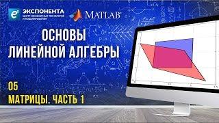 Основы линейной алгебры: 5. Матрицы. Часть 1