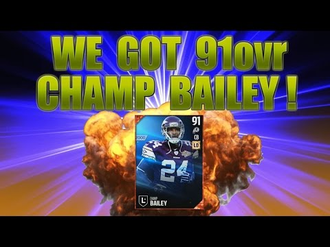 WE GOT 91ovr CHAMP BAILEY! - MADDEN 17 ULTIMATE TEAM