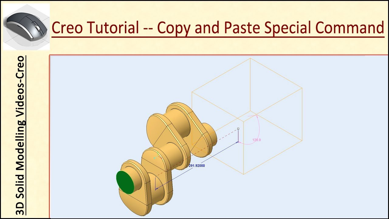 🔖 Creo Parametric Tutorial || Copy and Paste Special Command (with audio  narration)