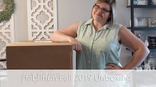Why is the box so big??? - fabfitfun Fall 2019 Unboxing *SPOILERS*
