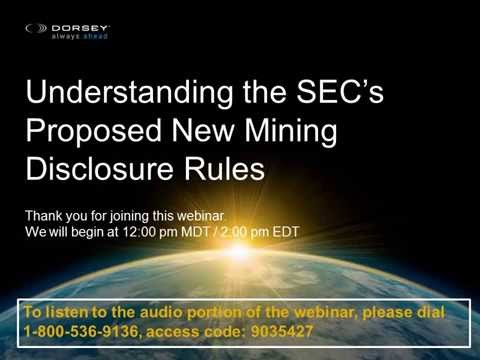 Webinar Playback: Understanding the SEC's Proposed New Mining Disclosure Rules