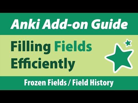 Anki Add-on Guide: Filling Fields Efficiently
