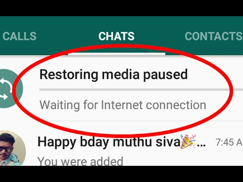 Fix Restoring media paused-Waiting for Internet connection Error in  Android|Tablet