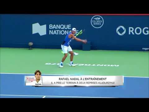 Rafael Nadal Practice in Montreal, 4 Aug 2017