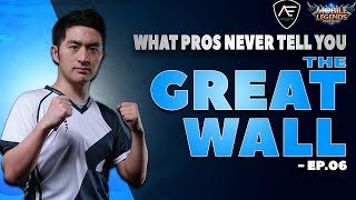 Tank No.1 Hidden Secret | What Pros Never Tell You | The Great Wall | Mobile Legends Advanced Guide