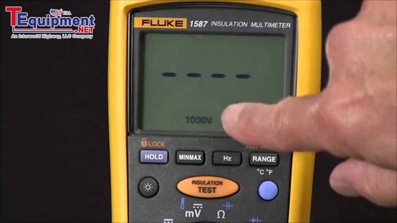 how to measure insulation resistance with a 1587 youtube rh youtube com Fluke Multimeter Fluke 87 Manual Users
