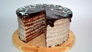 ТОРТ СПАРТАК. Нежный шоколадный торт. Рецепт торта.(Нежный шоколадный торт