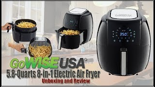 Unboxing of the GoWISE USA 5 8 Quarts 8 in 1 Electric Air Fryer